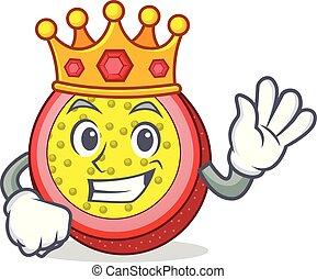 King passion fruit mascot cartoon