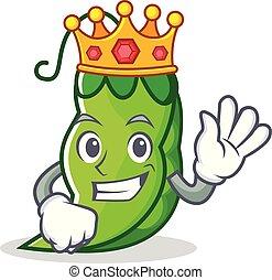 King peas mascot cartoon style