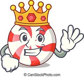 King peppermint candy mascot cartoon