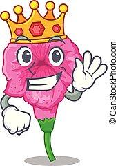 King petunia in a mascot flower basket vector illustration