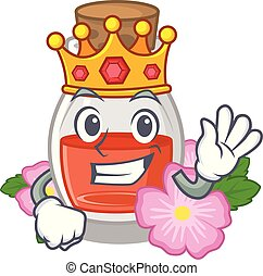 King rosehip seed oil on a mascot
