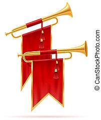 king royal golden horn illustration