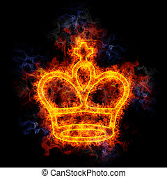 king., scacchi, infocato