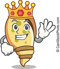 King sea shell mascot cartoon