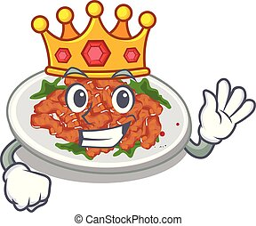 King sesame chicken in the character shape