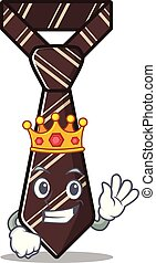 king smiling tie isolated on the cartoon