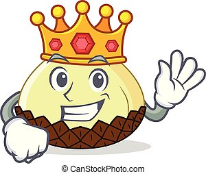 King snake fruit mascot cartoon