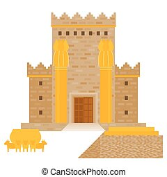 King Solomon's temple (Beit HaMikdash in hebrew name) with ...
