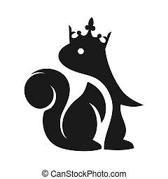 King Squirrel Animal Logo Design
