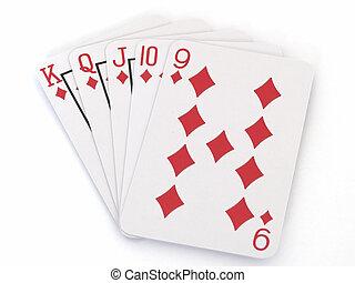 King Straight Flush - Straight flush hand in poker