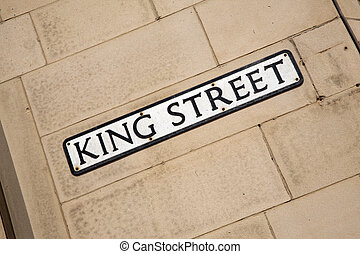 King Street Sign on Brick Wall