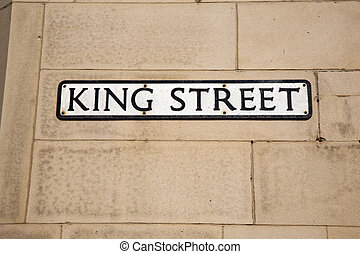 King Street Sign
