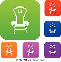 King throne chair set collection