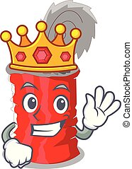 King tincan ribbed metal character a canned vector...