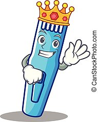King trimmer mascot cartoon style