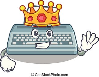 King typewriter in the a mascot closet