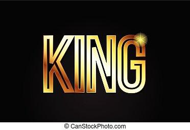 king word text typography gold golden design logo icon