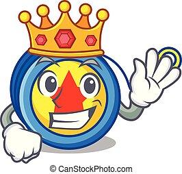King yoyo mascot cartoon style vector illustration