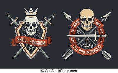 Kingdom and sea brotherhood emblems