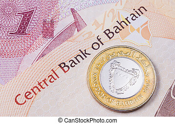 Kingdom of Bahrain currency banknotes and coin