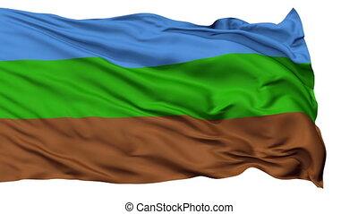Kingdom of Redonda Micronation Isolated Waving Flag -...