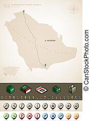 Kingdom of Saudi Arabia - Saudi Arabia and Asia maps, plus...