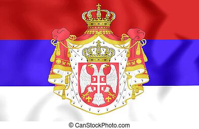 Kingdom of Serbia Flag (1882-1918) - 3D Kingdom of Serbia...