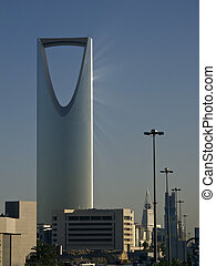 Kingdom tower in the Riyadh city, Saudi Arabia