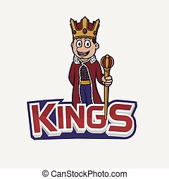kings banner illustration design