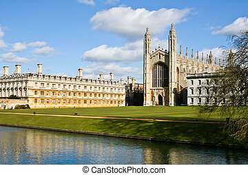 Nice view of Kings College Chapel in Cambridge, UK