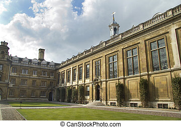 A view across a courtyard at the world-famous seat of learning