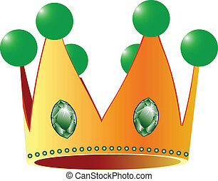 kings crown against white background; abstract vector art ...