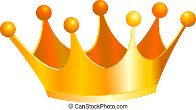 Kings crown - An illustration of a gold kings crown