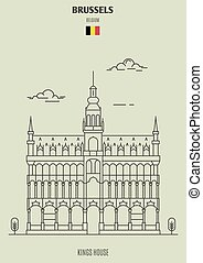 Kings House in Brussels, Belgium. Landmark icon
