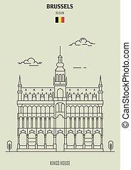 Kings House in Brussels, Belgium. Landmark icon