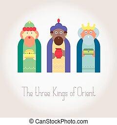 Kings magi vector illustration