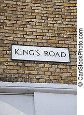 Kings Road Street Sign, Chelsea, London