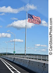 Kingston-Rhinecliff Bridge (George Clinton Memorial Bridge) in Kingston, New York.