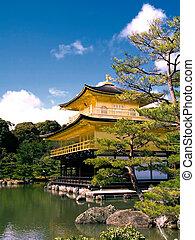 kinkaku, パビリオン, kyoto/japan), (the, 金