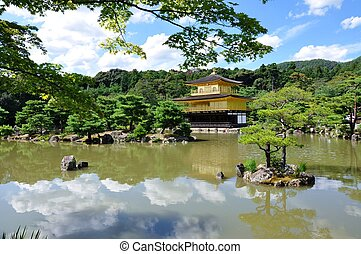 Kinkaku-ji, or Golden Pavilion, is nowaday a zen buddhist temple, Kyoto, Japan