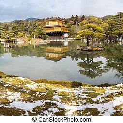 kinkakuji, 寺院, 雪