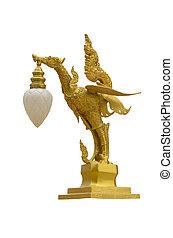 Kinnaree - Mythical bird with a human head.