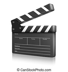 kino, clap., vektor, abbildung