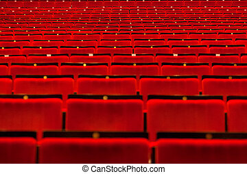 kino, halle, leerer , sitze