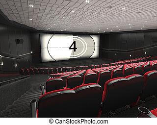 kino, przedstawienie, nowoczesny, 3d