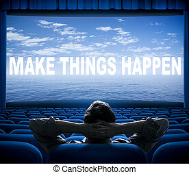 kino, rzeczy, ustalać, wyrażenie, happen, ekran