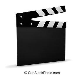 kino, video, und, film, leer, clapperboard