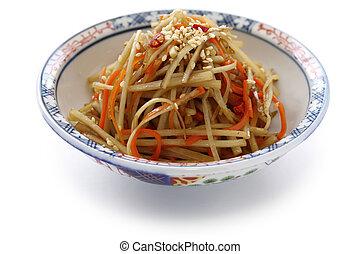 kinpira gobo, sauteed burdock root - A popular Japanese dish...