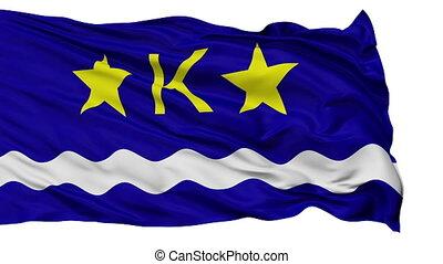 Kinshasa City Isolated Waving Flag - Kinshasa Capital City...