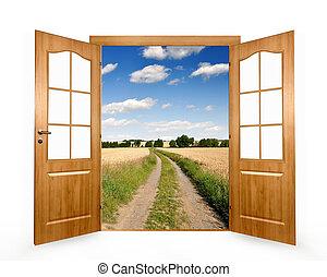 kinyitni az ajtót